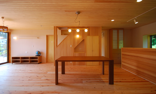 無垢材をふんだんに使った木の家のイメージ
