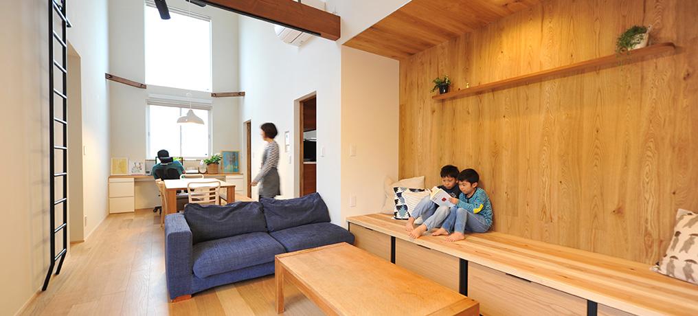 高台の平屋2世帯住宅